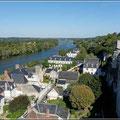 Blick auf Amboise und die Loire