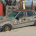 Das Auto war fast komplett mit Platinen verziert