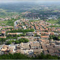 Blick auf den modernen Teil von San Marino