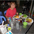 Leckeres Essen im Freiluftrestaurant