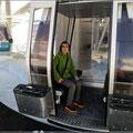 Fahrt mit der Karlesjochbahn