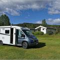 Unser erster Stellplatz in Norwegen