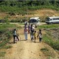 Zwischenstopp in einem Dorf