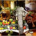 """Themenabend im Restaurant """"Afrikanische Küche"""" (Löwe und Elefant gab es natürlich nicht)"""