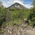 Vulkan Arenal, im Vordergrund sieht man noch erkaltete Lava