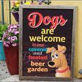 Hunde sind auch hier willkommen