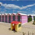 Umkleidekabinen am Strand