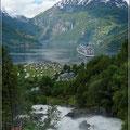 Blick auf den Geiranger Fjord