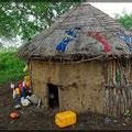 Hütte der Mursi