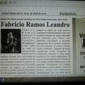 Matéria sobre Fabrício na Venezuela