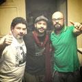 Cristiano Montalvão (Radiola Serra Alta), Fabrício Ramos e PH Moraes (Radiola Serra Alta)