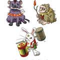 2013年9月【株式会社セプテーニ・クロスゲート 様】ゲームアプリ「アニプラ」イベントキャラクター18体