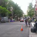 Hier wird mal wieder ein Film am International House gedreht - und laut Straßenschild wohne ich plötzlich in der Nähe des Times Square...
