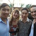 Mit drei Freunden meiner Uni