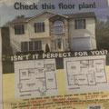 Werbung für ein Haus - mit Grundriss