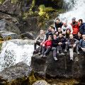 Gruppenfoto bei Thingvellir