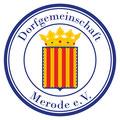 Logo der Dorfgemeinschaft, in der Mitte das Meroder Wappen