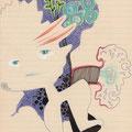 tagesbefindlichkeiten 10 - THEOS JUNGE UND MEINE KRANKE SEELE / 21 x 30 cm / 3.12.2013 / mischtechnik auf papier