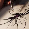 Dünnere Details mit der Feder (Kalligraphie)