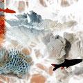 """""""Unter Wasser"""", 2009, Unikat, Zweierserie, 70x50 cm, verkauft"""