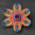 ブローチ Rainbow Flower2