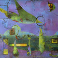 ´Earthing`2007, 40x58 cm, 4 Farben/Material/Tonpapier