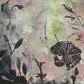 ´Lichtung`2007, 40x58cm, 4 Farben/Material/Bütten