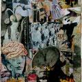 « …und dachte an des Dichters Lied…»       2008, 32,5x26,5 cm , Collage
