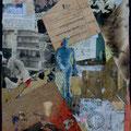 «...und wollte Maler werden… »       2006, 27x21cm, Collage
