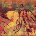 ´Feuervogel (aus Treibsand der Geschichte)`2007, 40x48 cm, 4 Farben/Tonpapier