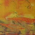 ´Unter der Sonne`2007, 40x58 cm, 3 Farben/Material/Tonpapier