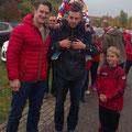 Rene D. mit Matthias Steiner (Gewichtheber) beim GC Herbstlauf