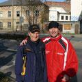 Udo mit Waldemar Cierpinski beim Zwickauer Stadtlauf am 08.11.2009