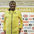 Haile Gebrselassie * 18.04.1973 (Marathon Weltrekordler; Berlin 2007 in 02:03:59h)) beim 30. Wien Marathon 2013