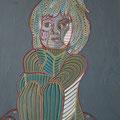 Odetta - 2015, Öl auf Karton, 42 cm x 58 cm