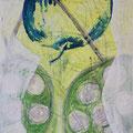 Secret Painings 4/29: Apfel, Mischtechnik auf Spanplatte, 36 x 56 cm, 2015
