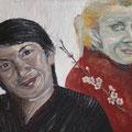 Portrait of a friendship, Öl auf Leinwand, 50 cm x 60 cm, 2014, Privatsammlung