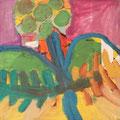 Secret Paintings 12/29: OP-Licht, Mischtechnik auf Holz, 30 x 30 cm, 2015