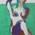 Auf der Wiese, Aquarell und Buntstift auf Papier, 2017, 42 cm x 29 cm