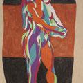 Running,  Aquarell und Buntstift auf Papier, 2017, 62 cm x 49 cm
