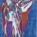 Er und Sie, Aquarell und Buntstift auf Papier, 2017, 42 cm x 29 cm