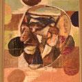 Der Vater - Mischtechnik auf Leinwand; 36,5 cm x 43 cm, Privatsammlung