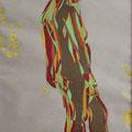 Yellow dots, Aquarell und Buntstift auf Papier, 2017, 59 cm x 42 cm