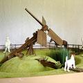 Moulin d'irrigation à vis d'Archimède, dit PAALTJASKER. Pays bas.