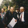 Beim Rundgang im Waldstraßenviertel, 1992
