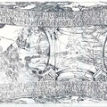 Interior Vaulted ceiling mural Design Austin, Texas  USA  ©2006, Pencil on Paper