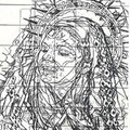 Madonna Painting Design, Los Angeles, California  USA  ©1998, Pencil on Paper