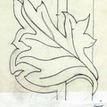 """Leaf"" Design, Los Angeles, California  USA  ©1991, Pencil on Paper"