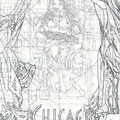 Design for the City of Chicago Interior Mural, Chicago, Illinois  USA  ©2000, Pencil on Paper