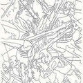 "(Detail) ""1992 Barcelona Olympics Mural"" Design, Barcelona, Spain ©1991, Pencil on Paper"